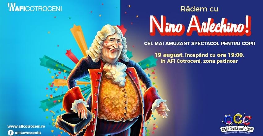 Radem cu Nino Arlechino – cel mai amuzant spectacol pentru copii!