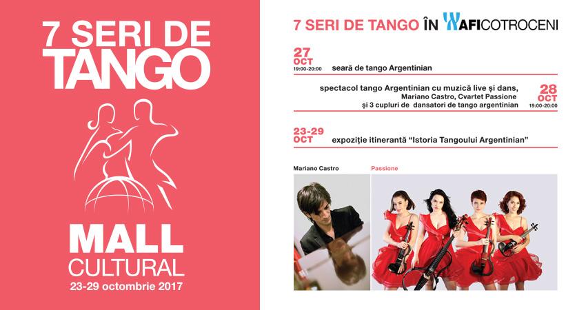 Spectacol de tango cu muzica live si dans in AFI Cotroceni