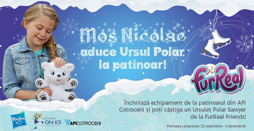 Mos Nicolae aduce Ursul Polar la patinoar!