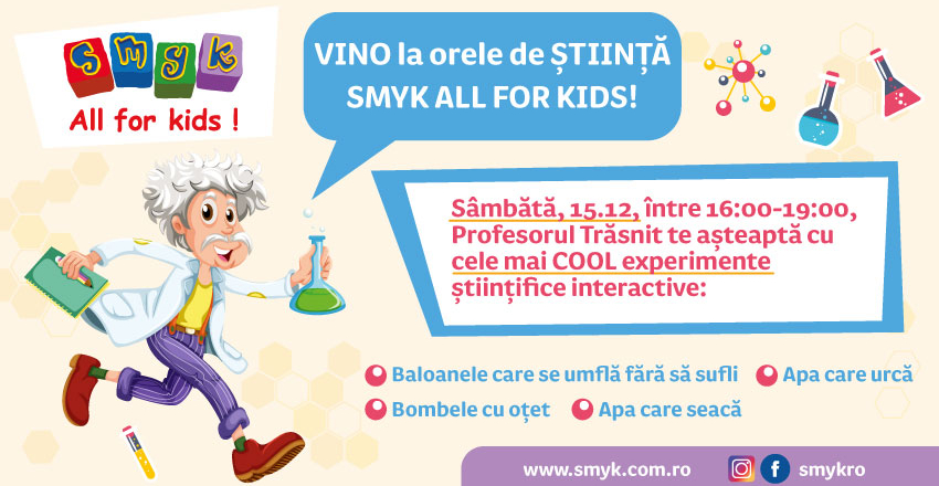 Orele de stiinta SMYK ALL FOR KIDS!